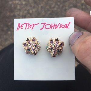 NWT Betsey Johnson | Crystal Fox Earrings